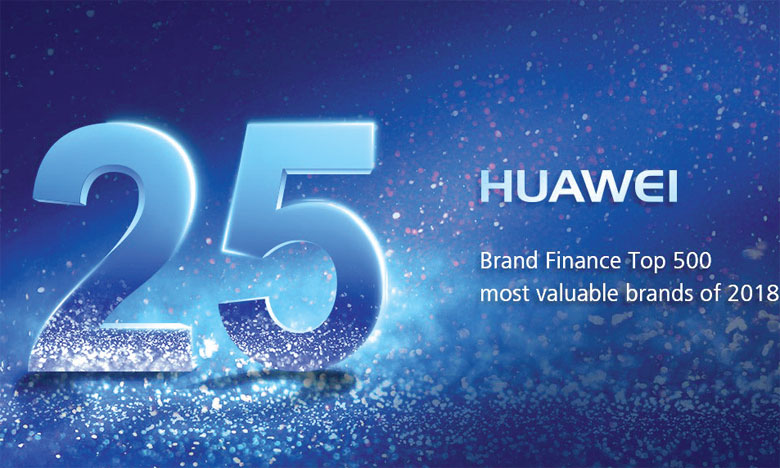 Huawei propulsé à la 25e place