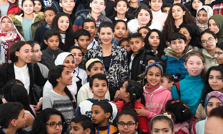 S.A.R. la Princesse Lalla Meryem préside à Rabat la cérémonie  de clôture de la rencontre «Femme et enfant en situation de précarité»
