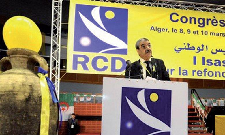Saïd Saadi, lors du congrès du Rassemblement pour la culture et la démocratie.