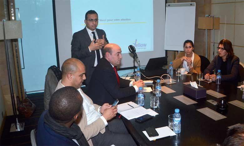 Présentation du programme Yellow Challenge lors d'une table ronde,  le 26 février à Casablanca.  Ph. Saouri