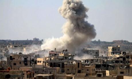 Les bombardements du régime  font 10 morts par asphyxie