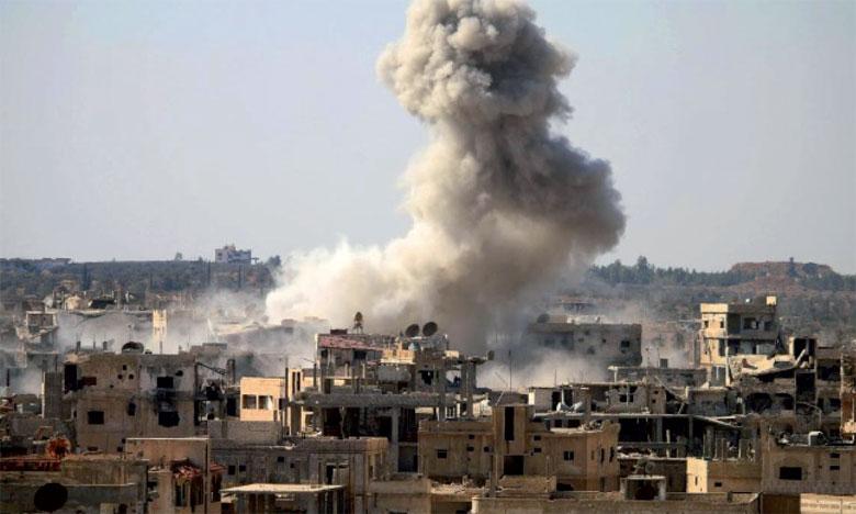 Selon l'Observatoire syrien des droits de l'Homme, «des avions présumés russes ont touché le principal hôpital de Maaret Al-Noomane, causant des dégâts».     Ph. DR.