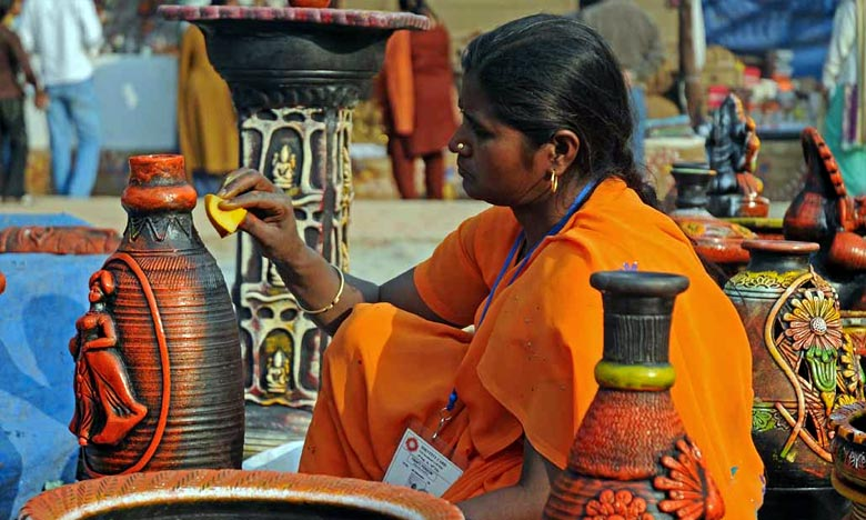 Le Festival de l'artisanat «Surajkund Mela» attire annuellement plus d'un million de visiteurs. Ph : DR