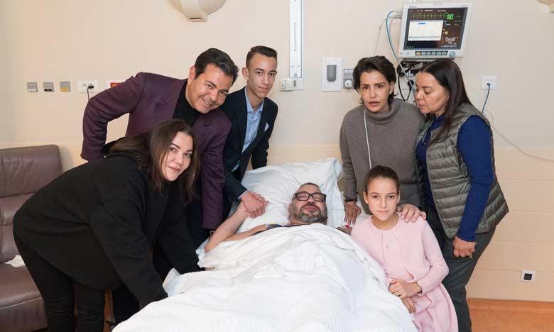 Sa Majesté le Roi Mohammed VI a subi lundi avec succès une opération à Paris