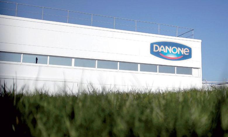 En données comparables New Danone, le groupe agroalimentaire a fini l'année avec un chiffre d'affaires consolidé en progression de 2,5% à 24.677 milliards d'euros. Ph. AFP