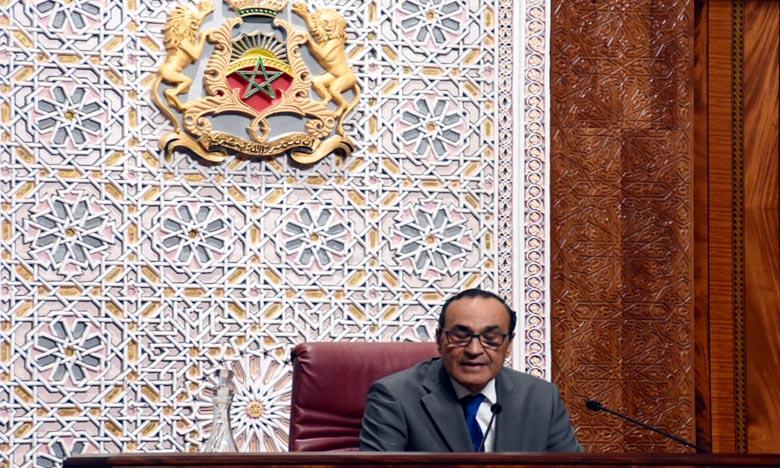 Message de fidélité et de loyalisme à S.M. le Roi du président de la première Chambre