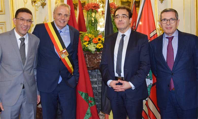 Les préoccupations de la communauté marocaine  au centre des entretiens de Abdelkrim Benatiq  avec de hauts responsables belges