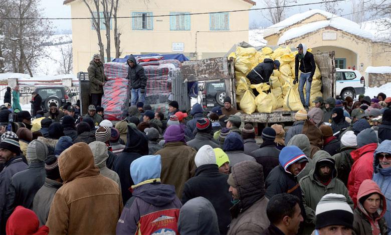 Vague de froid : 1.100 familles bénéficient d'aides dans la province d'Ifrane
