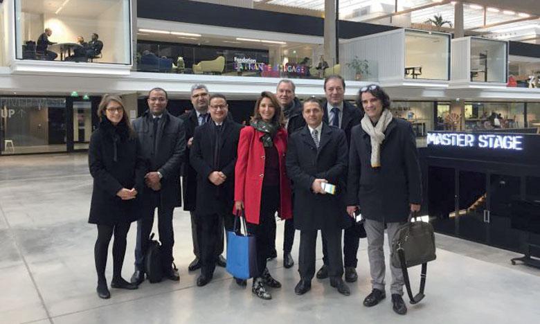La délégation est composée de représentants des ministères de l'Enseignement supérieur du Maroc, de Tunisie et du réseau Pépite France, partenaire du projet.
