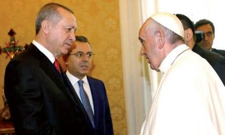 Recep Tayyip Erdogan reçu par le pape François