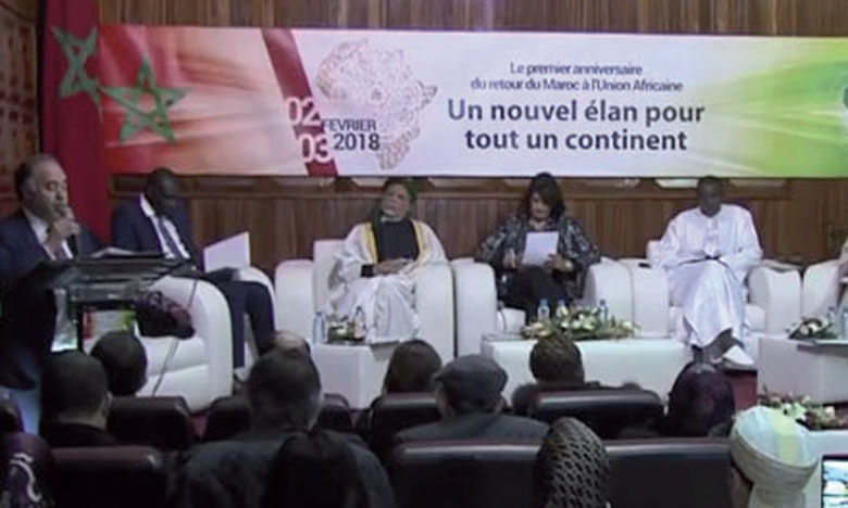 Célébration du premier anniversaire  du retour du Maroc à l'UA