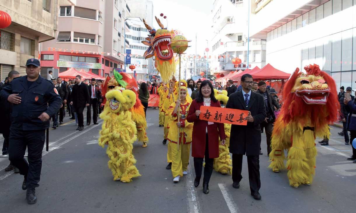 Le carnaval du Nouvel  An chinois à Casablanca