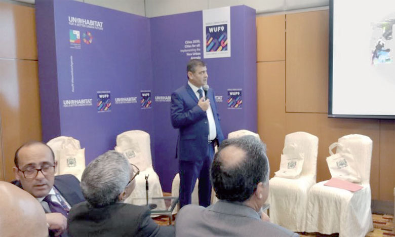 Tayeb Daoudi, membre du directoire d'Al Omrane, a présenté l'expérience du groupe en tant qu'outil de l'État dans l'implémentation des politiques publiques en matière d'habitat et d'aménagement urbain.