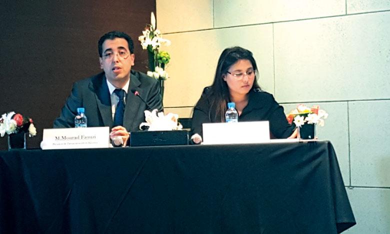 Mourad Faouzi et Fatimazohra Moumou «respectivement» président  et vice-présidente de l'association Droit & Justice.