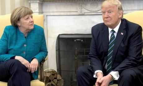 Angela Merkel et Donald Trump  se disent «inquiets»