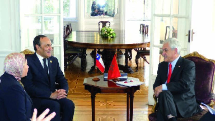 Habib El Malki reçu en audience par le Président chilien élu Sebastián Piñera