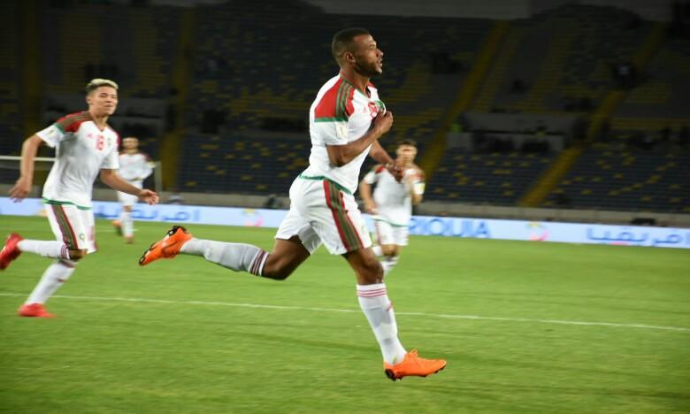 Ayoub El Kaabi ouvre le score pour l'équipe nationale