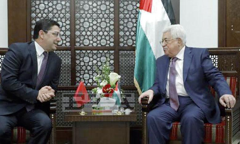 Le Président Abbas salue le soutien de S.M.  le Roi à la cause juste du peuple palestinien