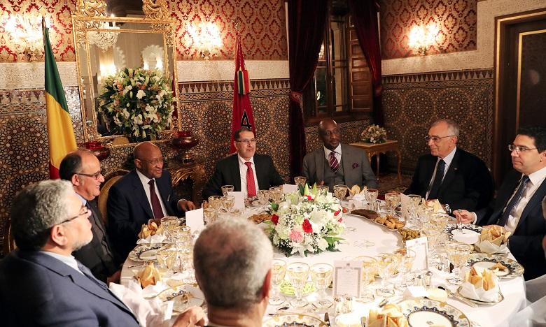 Sa Majesté le Roi Mohammed VI offre un dîner en l'honneur du Premier ministre malien, Soumeylou Boubeye Maïga