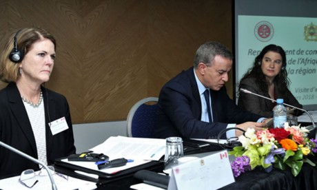 Lancement à Rabat du programme  de renforcement des capacités des magistrats  du Sahel et de l'Afrique de l'Ouest
