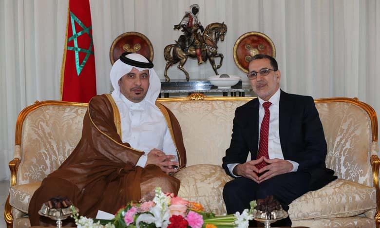 Arrivée à Rabat du Premier ministre et ministre de l'Intérieur du Qatar