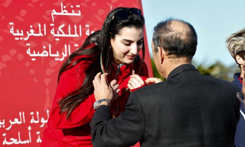 «Je suis ravie de cette victoire. Les compétitions étaient très relevées grâce à la participation des concurrentes redoutables», a déclaré Mariem Rammah. Ph : MAP