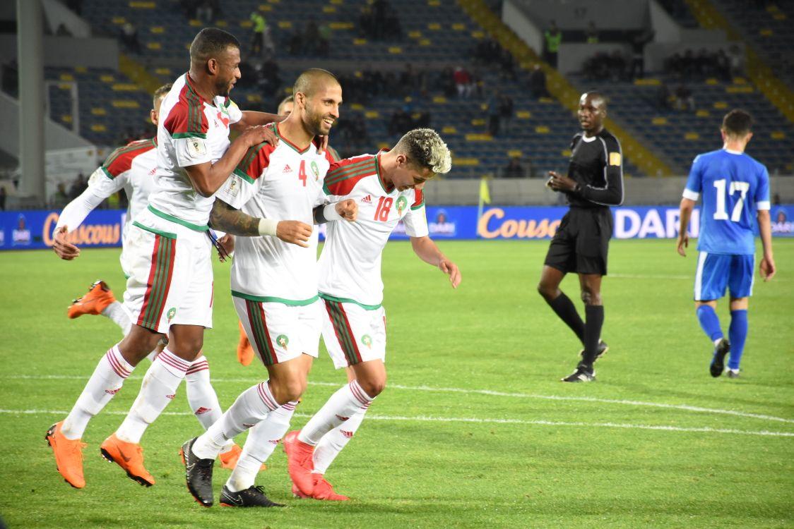 Le Maroc mène 2-0 à la mi-temps face à l'Ouzbékistan
