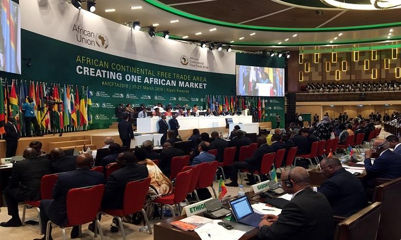 S.M. le Roi souligne que le lancement de la Zone de libre-échange continentale africaine est un jalon crucial dans le développement multiforme de l'Afrique