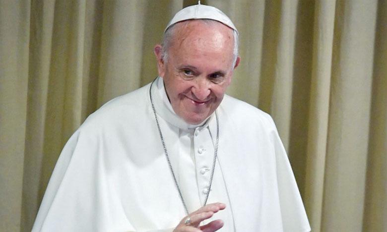 Message de félicitations  de S.M. le Roi, Amir  Al-Mouminine, au Pape François à l'occasion du 5e anniversaire de son Pontificat