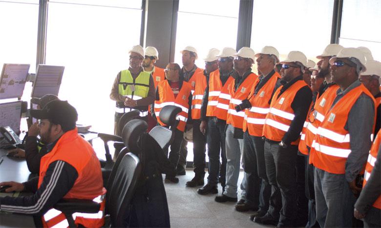 La presse visite les installations phosphatières  du groupe OCP