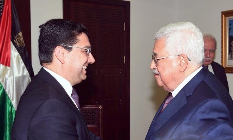 Le Président Abbas salue les efforts de S.M. le Roi