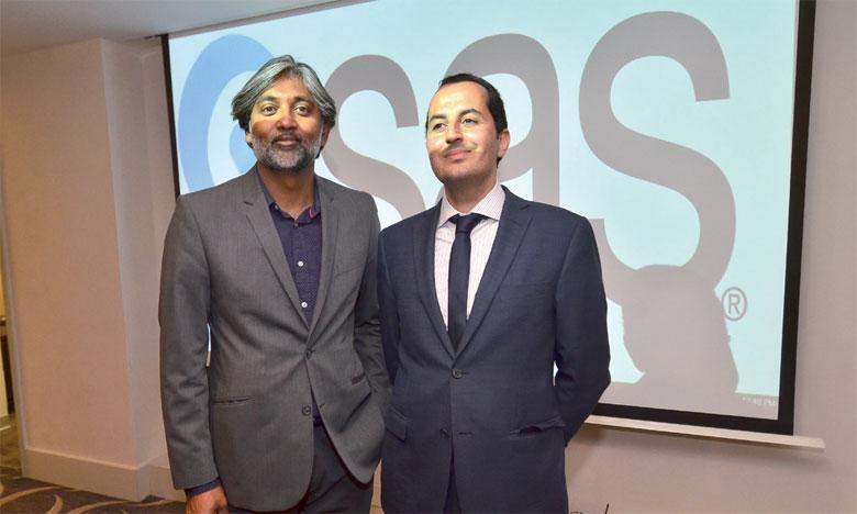 Selon le directeur des marchés Afrique francophone chez SAS, Youssef Aqallal (à droite), «Le Royaume accapare la moitié du business des  20 pays de la région Afrique du Nord, Ouest et Centrale».