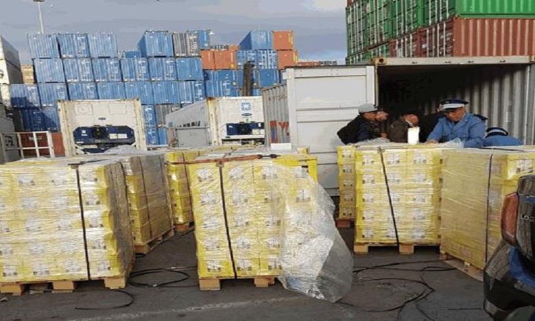 Saisie au port de 240 kg de haschich dissimulés dans des briques de jus d'orange