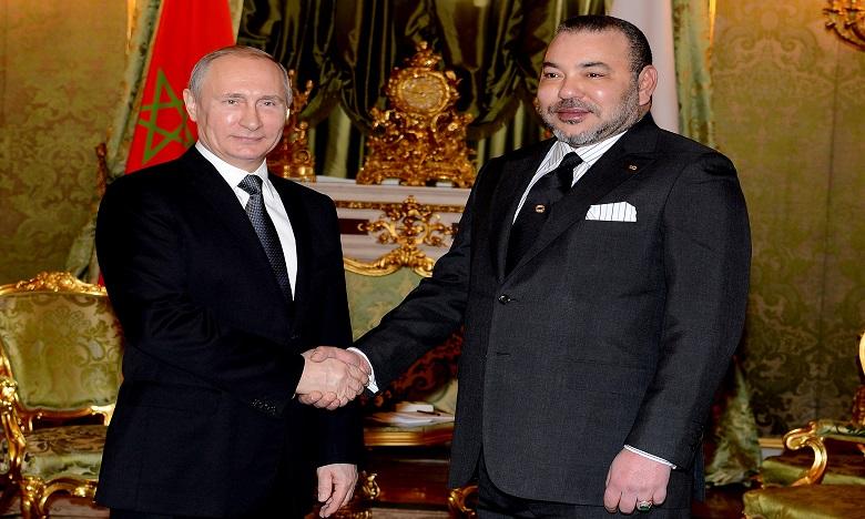 S.M. le Roi félicite M. Vladimir Poutine à l'occasion de sa réélection