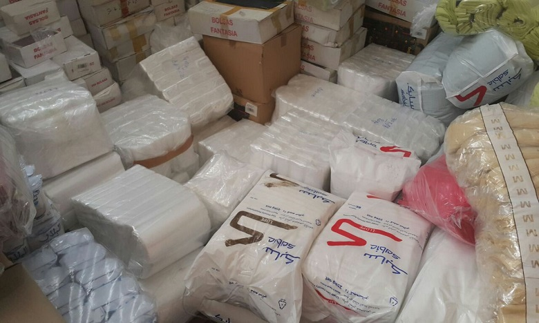 Saisie de 2,96 tonnes de sacs en plastique