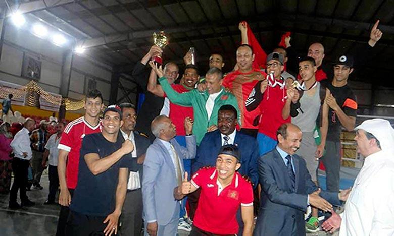 L'équipe marocaine de boxe a arraché trois médailles d'or, autant de médailles d'argent et deux de bronze au Championnat arabe, à Khartoum. Ph : DR
