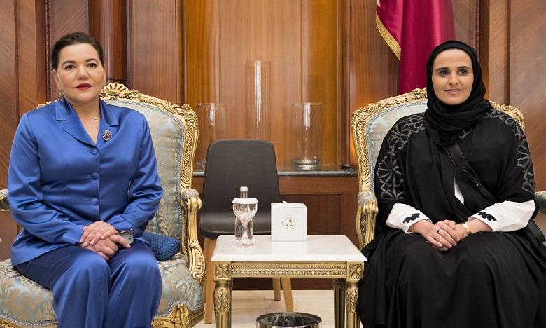 S.A.R. la Princesse Lalla Hasnaa à Doha pour représenter S.M. le Roi Mohammed VI