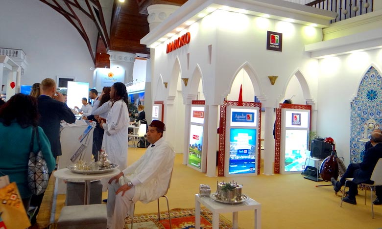 Le pavillon marocain a été encadré par le bureau de l'Office national marocain du tourisme pour le Moyen-Orient. Ph : DR