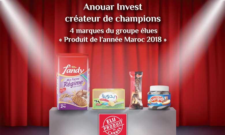 Amane Souss et 4 produits d'Anouar Invest élus «Produits de l'année 2018»