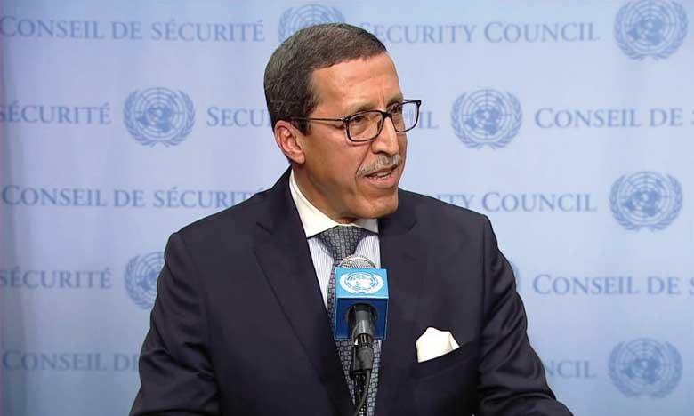"""M. Omar Hilale au Président du CS: Le déplacement de toute structure du """"polisario"""" vers l'Est du dispositif de sécurité au Sahara marocain """"constitue un casus belli"""""""