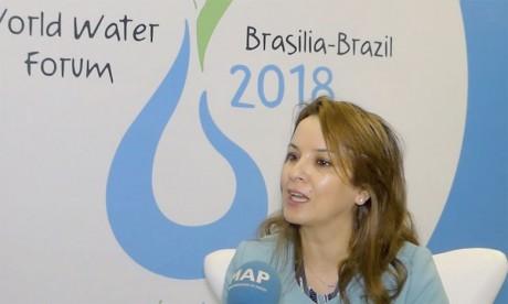 La secrétaire d'État chargée de l'Eau, Charafat Afilal, avait appelé à Brasília à mettre  en avant la situation alarmante en Afrique. Ph. MAP
