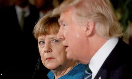 Merkel à Washington pour tenter de convaincre Trump