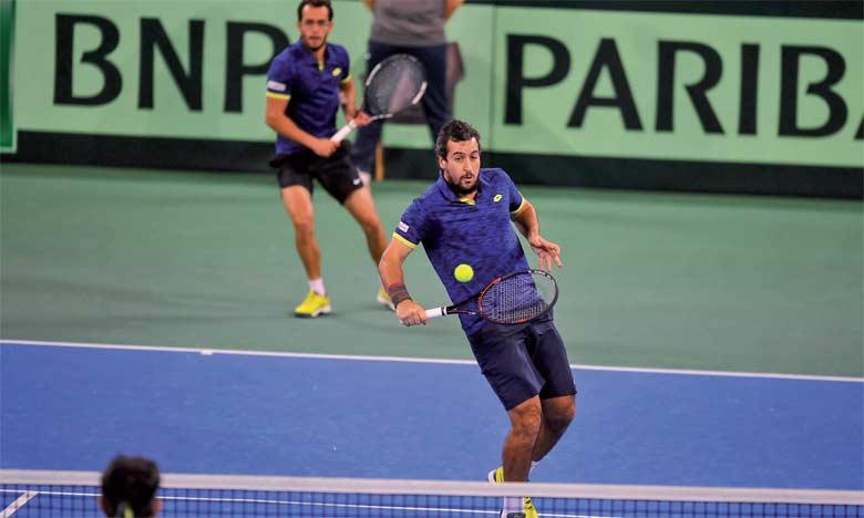 La paire marocaine Yassine Idmbarek-Lamine Ouahab n'a pas pesé lourd face Marius Copil et Florin Mergea.