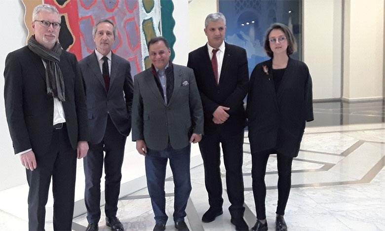 Mehdi Qotbi, s'est félicité de cette très belle exposition qui présente de magnifiques chefs-d'œuvre.