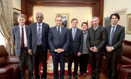 Habib El Malki s'entretient avec une délégation de la Fédération pour la paix universelle