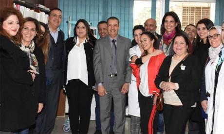 Sorour Biladi fait don au centre néonatal de Rabat