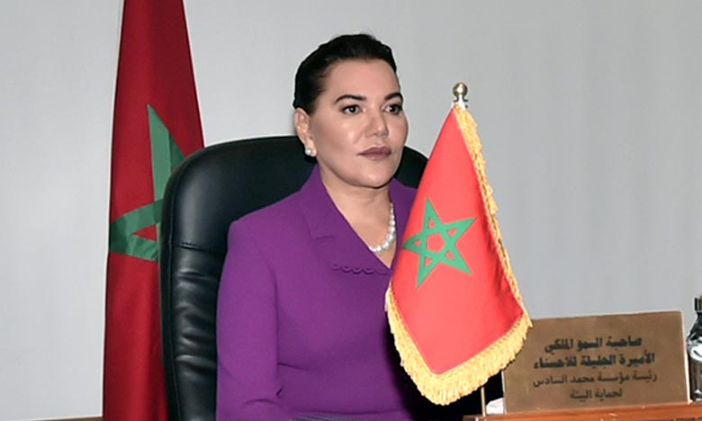 S.A.R. la Princesse Lalla Hasnaa désignée Ambassadeur de bonne volonté de la Commission Climat et du Fonds bleu du Bassin du Congo. Ph : MAP