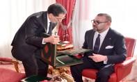 S.M. le Roi reçoit, au Palais Royal à Rabat, le Chef  du gouvernement, le ministre de l'Intérieur et le ministre  de l'Économie et des Finances