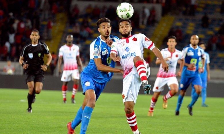 Après ce score, le Wydad athletic club de Casablanca (WAC)  champion du Maroc et d'Afrique en titre se hisse provisoirement à la 3e position au classement général avec 40 point. Ph : Seddik