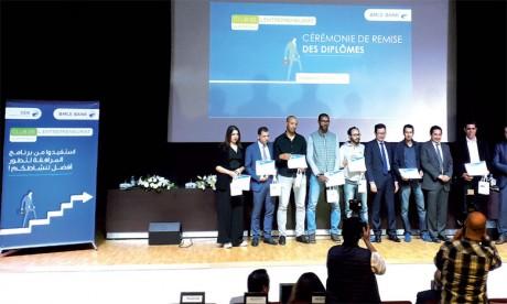 Les lauréats de la 1re promotion du «Club  de l'entreprenariat» célébrés à Casablanca
